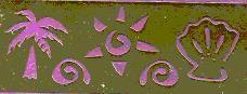 love the sea stencil