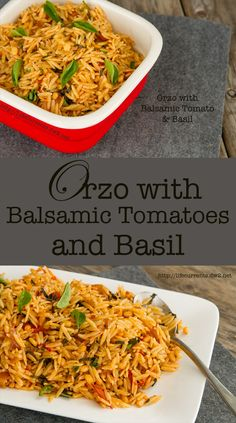 Orzo with Balsamic Tomatoes and Basil - Life Currents