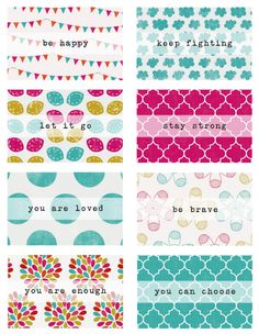 Occupation: Mum.: Free Printable Positive Affirmation Cards (credit card size)!