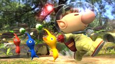 Olimar and the pikmins returns in Smash Bros for #WiiU and for 3DS !