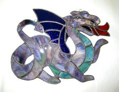 Welsh Dragon in Stained Glass (Purple) | Flickr - Photo Sharing!