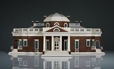 """David Linley, """"Monticello"""" humidor depicting the home of 3rd US President, Mr. Thomas Jefferson"""