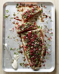 Salmon with Pomegranate and Herbs - Pete Evans #recipe #paleo
