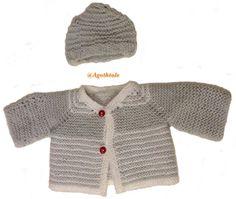 layette tricot point mousse bébé naissance
