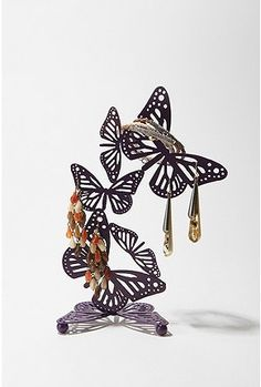 Floating butterfly jewelry stand $19