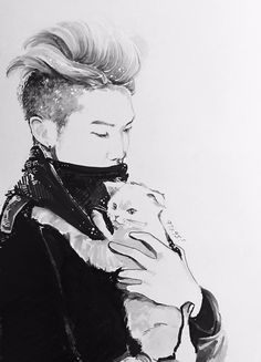 Rap Mon and Kitty fanart
