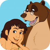 The Jungle Book - Expanded Interactive Edition - Official Videos & Games for Kids        iOS Universal The Jungle Book Mowgli's World app is filled with official videos, interactive (read aloud) books, photos, songs, games and activities featuring all of your favorite Jungle Book characters including Mowgli, Baloo, Bagheera, King Louie, Shere, Hathi, Khan, Kaa, Shanti, Junior, Akela, Raksha and more!  10MB