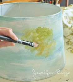 Prodigious Useful Ideas: Lamp Shades Bedroom Fabric Lampshade plastic lamp shades diy.Lamp Shades Living Room Home Decor. Floral Lampshade, Lampshade Redo, Fabric Lampshade, Painted Lampshade, Fabric Chandelier, Lampshade Designs, Jar Chandelier, Chandeliers, Old Lamp Shades