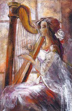 pintura de arpa
