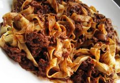 Sicilian Pork Ragu with Chocolate Tagliatelle Pasta, Pork Ragu, Pork Mince, Arancini, Sicilian Recipes, Vegetable Puree, Tasty, Yummy Food, What To Cook