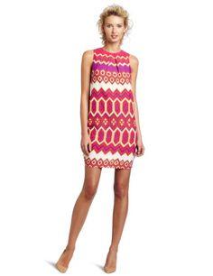 Julie Dillon sleeveless printed shift dress