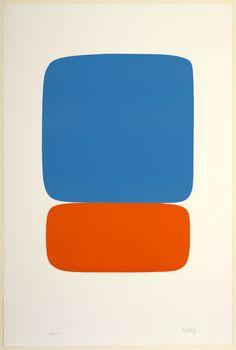 Ellsworth Kelly Blue over Orange 1964 57 x / 18 x 14 lithograph on white woven paper Art Institute of Chicago. Hard Edge Painting, Painting & Drawing, Art Design, Graphic Design Art, Textiles Sketchbook, Ellsworth Kelly, Art Institute Of Chicago, Art Abstrait, Minimalist Art