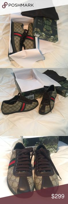 Gucci Mens Sneakers Size 44 / 10 New Brand New Gucci Mens Shoes Size 44 which i believe is 10US Please see pictures any questions ask thanks. Gucci Shoes Sneakers