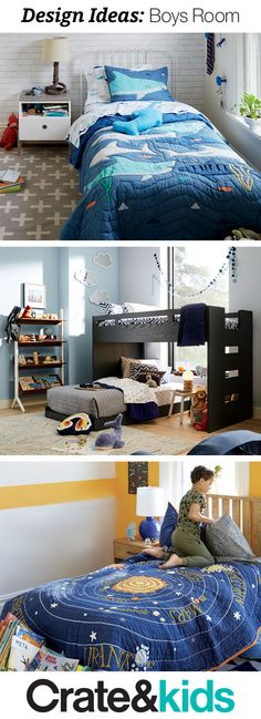 Searching for boys bedroom design ideas? Our room gallery have tons of inspiration to help you create a kids room that's every bit as unique as your little one.