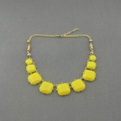 Bib necklace Yellow  necklace statement necklace by AnnyJewelry