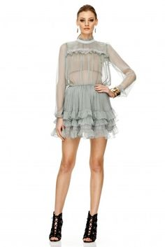 Romanian Fashion Brand since Designer. Green Silk, Green And Grey, Just Style, Skirt Pants, Silk Chiffon, Summer Collection, Fashion Brand, Bohemian, Casual