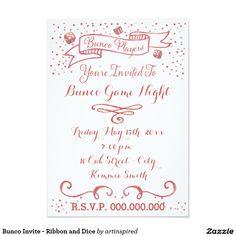 Bunco Invite - Watercolor style graphic art  Bunco invitation.