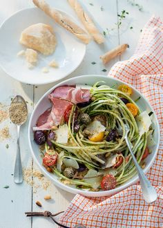 Recette : la salade de pâtes healthy / Healthy food : pasta and vegetable salad