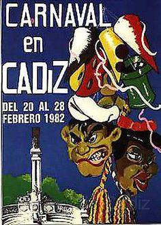 Cartel Carnaval de Cadiz año 1982