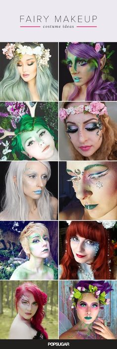 Pin for Later: 25 Ethereal Makeup Transformations to DIY Your Halloween 'Fairy' Tale Pin It!Pin for Later: 25 Ethereal Makeup Transformations to DIY Your Halloween 'Fairy' Tale Pin It! Costume Halloween, Looks Halloween, Halloween Face Makeup, Faerie Costume, Amazing Halloween Costumes, Terrifying Halloween, Halloween Images, Halloween Halloween, Halloween Themes