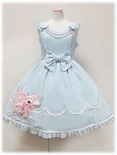 Angelic Pretty Milky-chan of the Fawn Applique JSK in sax