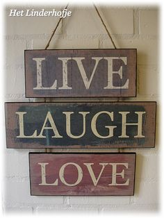 "Wandbord ""Live, Laugh, Love"""