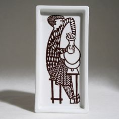 Collectible small tray/plate designed by Stig Lindberg for Gustavsberg.