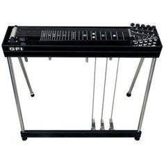 GFI Musical Instruments S-10 SM Pedal Steel Guitar with Hardshell Case (3 pedals, 4 knee levers)