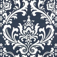 Navy Blue White Damask Home Decorating Fabric - Premier Prints. Possible duvet? Floral Print Fabric, Blue Fabric, Floral Prints, Turquoise Fabric, Damask Curtains, Drapery Fabric, Chair Fabric, Damask Wall, Blue Curtains