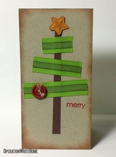 Ribbon tree for Christmas card