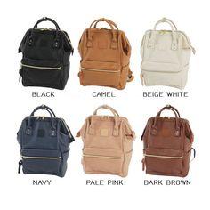 Anello japan bag leather version Anello Backpack Outfit, Backpack Bags, Leather Backpack, Leather Bags, Anello Bag, Japan Bag, Trending Handbags, Fabric Bags, Zipper Bags
