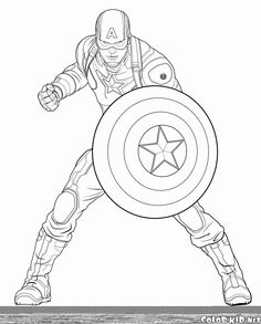 captain america from the avengers coloring pages printable and coloring book to print for free. Find more coloring pages online for kids and adults of captain america from the avengers coloring pages to print. Captain America Painting, Captain America Drawing, Captain America Coloring Pages, Avengers Coloring Pages, Spiderman Coloring, Superhero Coloring Pages, Marvel Coloring, Cartoon Coloring Pages, Disney Coloring Pages