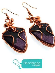 Stichtite Gemstone Copper Wire Wrapped Earrings from Angelleesa Designs https://www.amazon.co.uk/dp/B01LYZXJQM/ref=hnd_sw_r_pi_dp_PwM7xb3SGV51F #handmadeatamazon