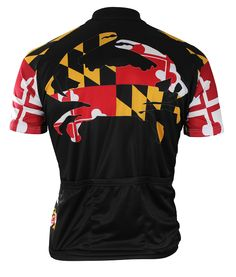 Maryland Crab Cycling Jersey - Back View - FREE SHIPPING - http://www.cyclegarb.com/83-sportswear-cycling-jerseys.html