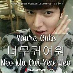 You're cute. Lee min ho doing aegyo, so cute!!! :3