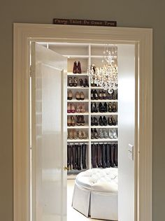i would love to have a shoe closet like this