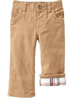 Flannel-Cuff Cords for Baby   Old Navy