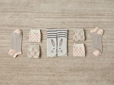 Cute Home Socks by Oysho <3 love the bunnies!
