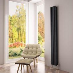 Milano Aruba Ayre - Aluminium Anthracite Vertical Designer Radiator - A slimline aluminium radiator that makes the most of your available space - http://www.bestheating.com/milano-aruba-ayre-aluminium-anthracite-vertical-designer-radiator-1800-x-230.html
