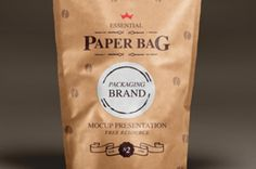 A new natural matte paper bag psd mock-up to help you showcase your packaging branding. You can easily change the color...