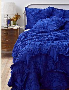 Cobalt blue bed spread