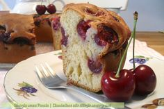 Ciambellone alle ciliegie senza grassi, ricetta senza olio o burro