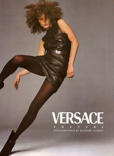 VERSACE Couture Fall 1996 Catalogue Photographed by Richard Avedon리차드 아베든 Model ...