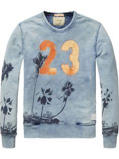 Sweater mit Print Sweater Herrenbekleidung von Scotch & Soda