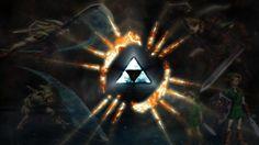 Blue Triforce Wallpaper