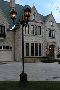 Custom post lights traveled all the way to Canada. Custom Lighting, Lighting Design, Gas And Electric, Travel Light, Canada, Indoor, Lights, Architecture, Building
