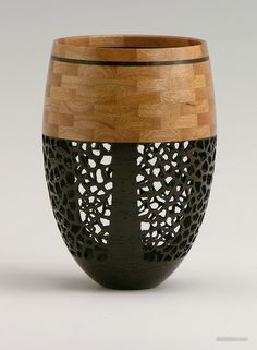 """Won't Hold Water""  240 pieces - maple, wenge.  Private collection.  segmented woodturning"