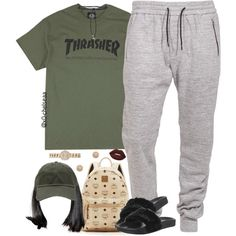 A fashion look from August 2016 featuring Puma shoes, MCM backpacks and Burberry watches. Browse and shop related looks.