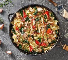 Kurczak z makaronem farfalle w sosie śmietanowo-czosnkowym. Kuchnia Lidla - Lidl Polska. #lidl #Pascal #salmon #farfalle