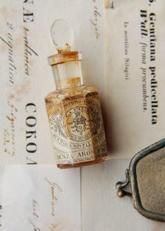 aged apothecary bottle